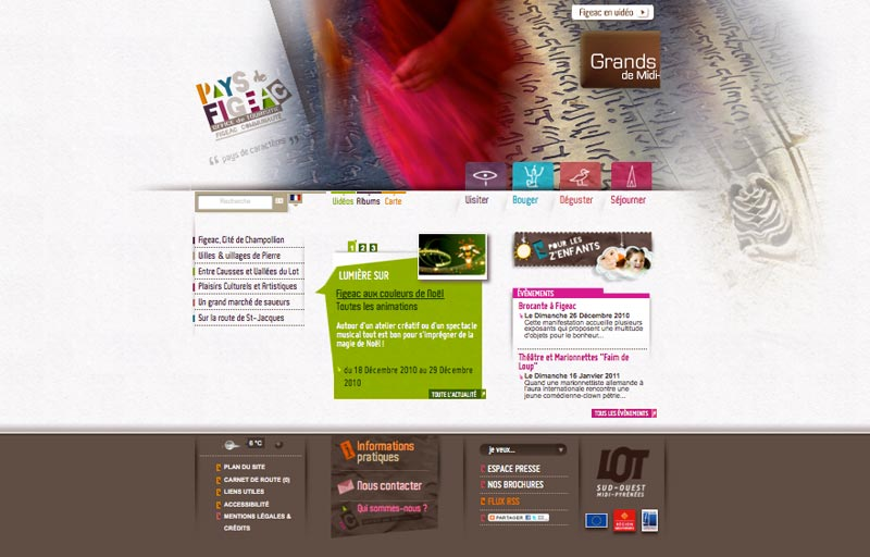 Site internet de l'Office de tourisme de Figeac